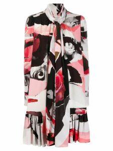 Alexander McQueen Torn Rose ruffle mini dress - Pink