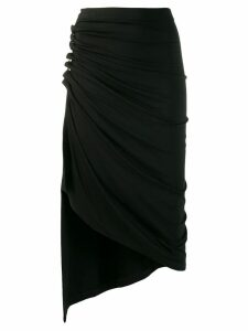 Paco Rabanne ruched asymmetric skirt - Black