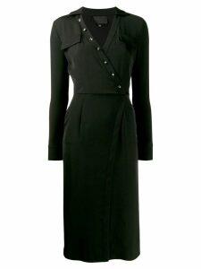 Philipp Plein button embellished midi dress - Black