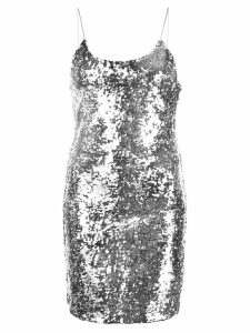 Alice+Olivia Giselle sequined mini dress - Silver