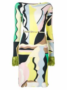 Emilio Pucci Vallauris Print Fringed Dress - Green