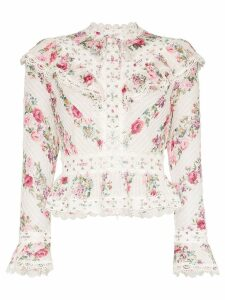 Zimmermann Honour floral print top - White