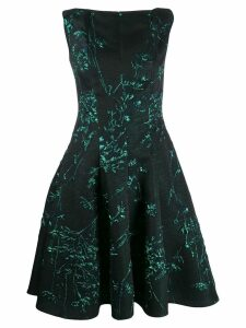 Talbot Runhof Korbut silk jacquard dress - Black