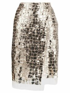 Dorothee Schumacher Seductive Layer pencil skirt - Neutrals