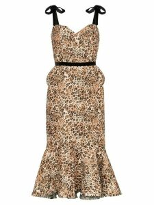 Johanna Ortiz Love Between Species leopard print dress - Brown