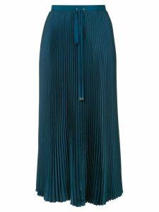 Tibi mendini twill pleated skirt - Blue