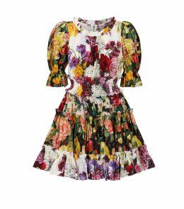 Cotton Floral Mini Dress