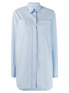 Givenchy tailored concealed button shirt - Blue