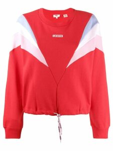 Levi's panelled logo sweatshirt - Red