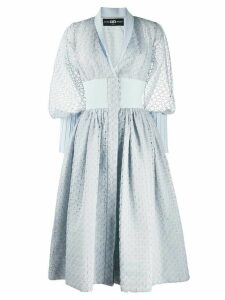 Avaro Figlio broderie anglaise flared dress - Blue
