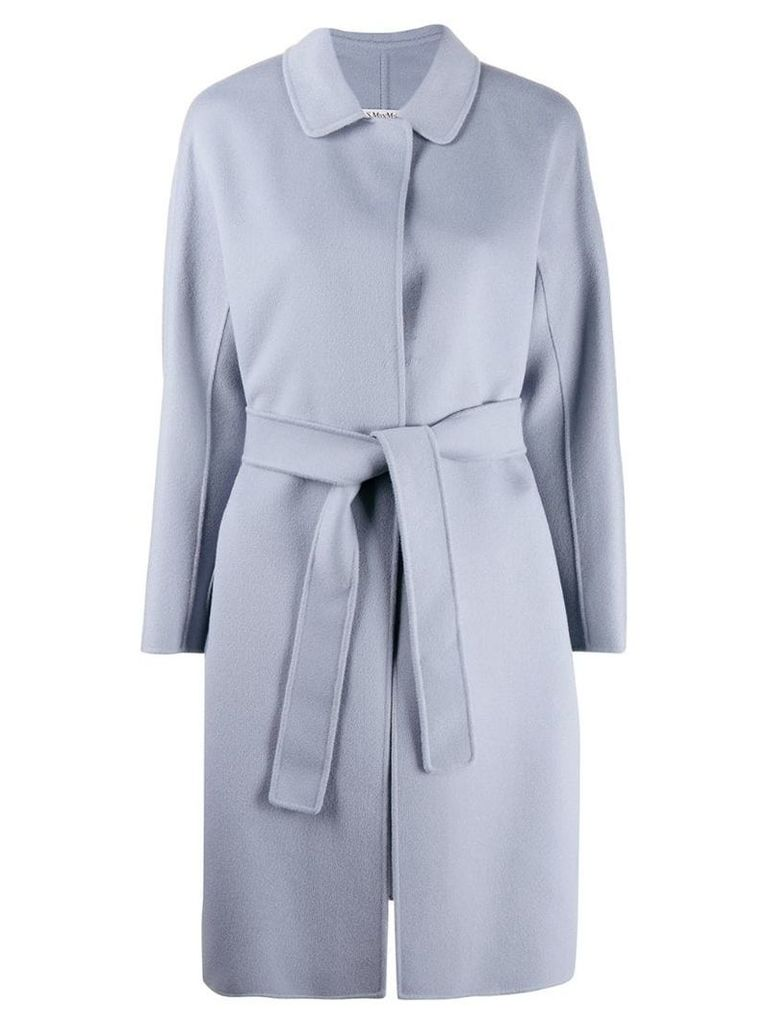 'S Max Mara belted mid-length coat - Blue