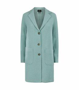 Wool Three-Button Coat
