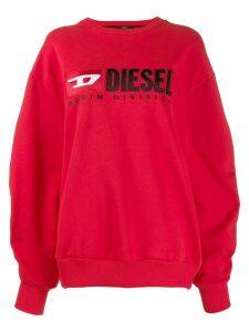 Diesel contrast logo sweatshirt - Red