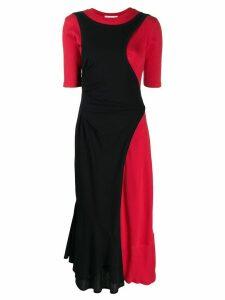 Enföld cut layered maxi dress