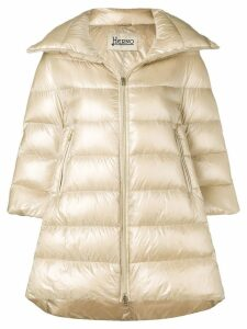 Herno padded zipped coat - Neutrals