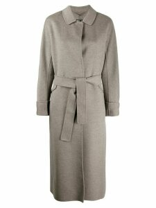 'S Max Mara belted long coat - Grey
