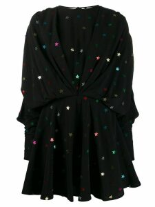 Attico Star appliqué mini dress - Black