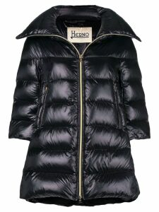 Herno puffer front zipped coat - Black