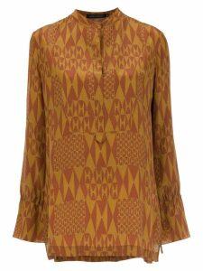 Andrea Marques printed silk blouse - Orange