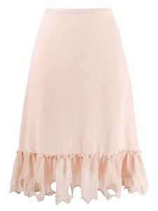 See By Chloé embellished hem skirt - Pink