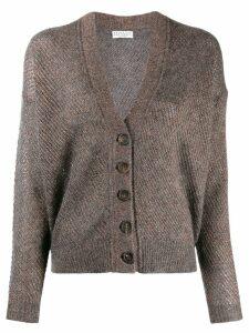 Brunello Cucinelli glitter-look knit cardigan - Grey