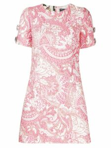 Dolce & Gabbana jacquard mini dress - Pink