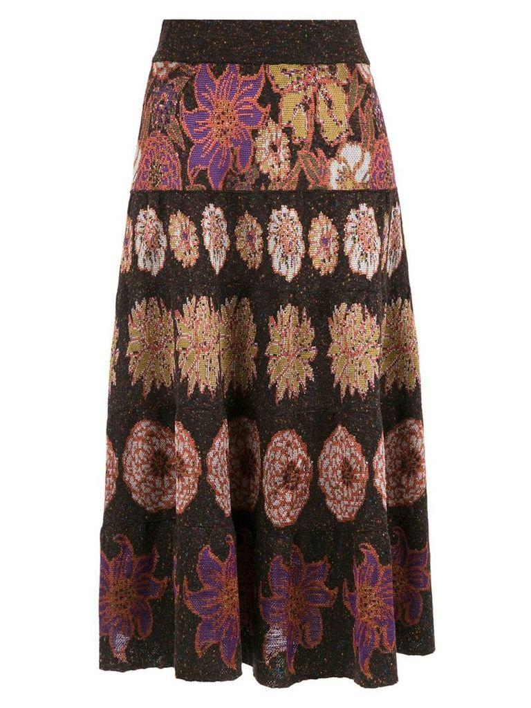 Cecilia Prado midi Flora skirt - Multicolour