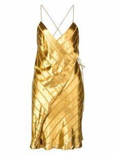 Michelle Mason strappy wrap mini dress - Gold