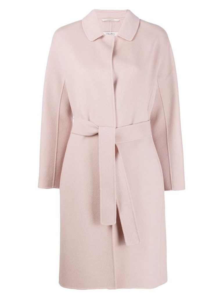 'S Max Mara belted mid-length coat - Pink