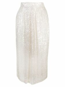 Adam Lippes sequin embellished skirt - White