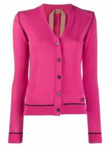 Nº21 contrast trimmed cardigan - Pink