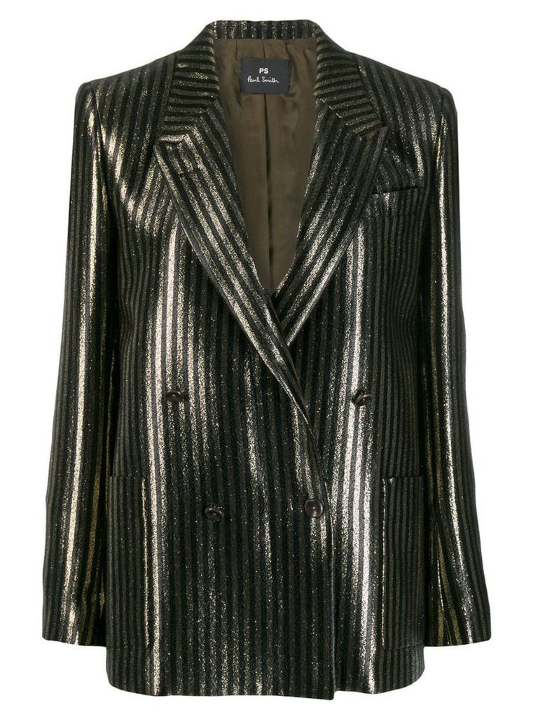 PS Paul Smith glittered striped blazer - Black