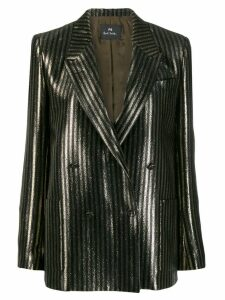 PS Paul Smith glittered striped blazer - Black