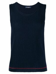 Piazza Sempione knitted cashmere top - Blue