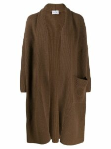 Salvatore Ferragamo Gancini cardi-coat - Brown