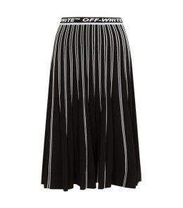 Knitted Logo Midi Skirt