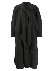Lemaire knotted trench coat - Black