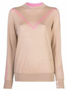 Adam Lippes pink trim sweater - Neutrals