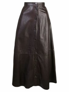 Adam Lippes button-through midi skirt - Brown
