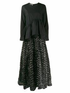 Jourden asymmetric shirt evening dress - Black