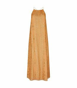 Metallic Detail Maxi Dress