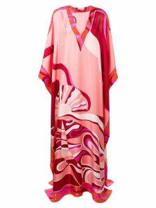 Emilio Pucci Copacabana Print Silk Kaftan Dress - Pink