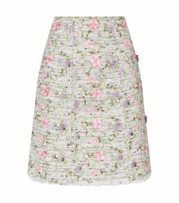 Embroidered Tweed Skirt