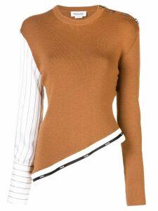 Monse asymmetrical sweater - Brown