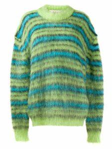 Marni oversized striped jumper - Green