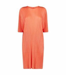 Batwing-Sleeved Midi Dress