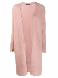 Luisa Cerano open front cardi-coat - Pink
