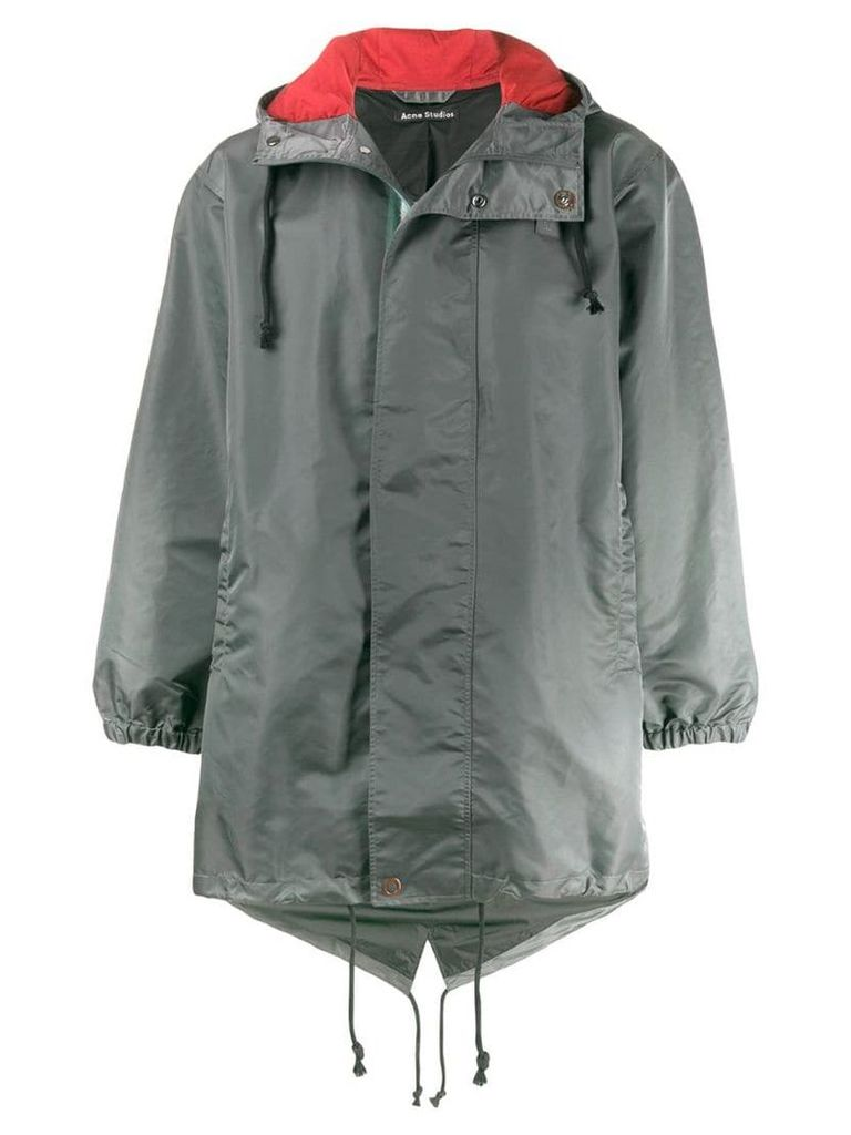 Acne Studios hooded parka coat - Green