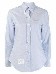 Thom Browne embellished anchor shirt - Blue