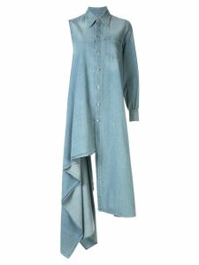Mm6 Maison Margiela asymmetric denim shirt dress - Blue